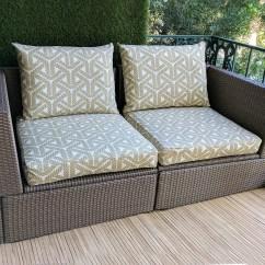 Custom Chair Covers Ikea Discount Beach Chairs Geometric Outdoor Slip Cover Cushion