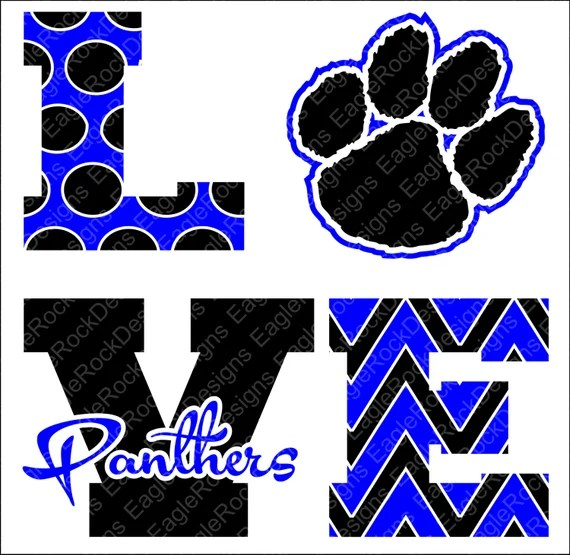 Download Love Panthers SVG DXF EPS Png Cut File Panthers Cheer