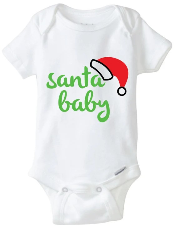 Download Santa Baby Onesie Design SVG DXF EPS Vector files for use