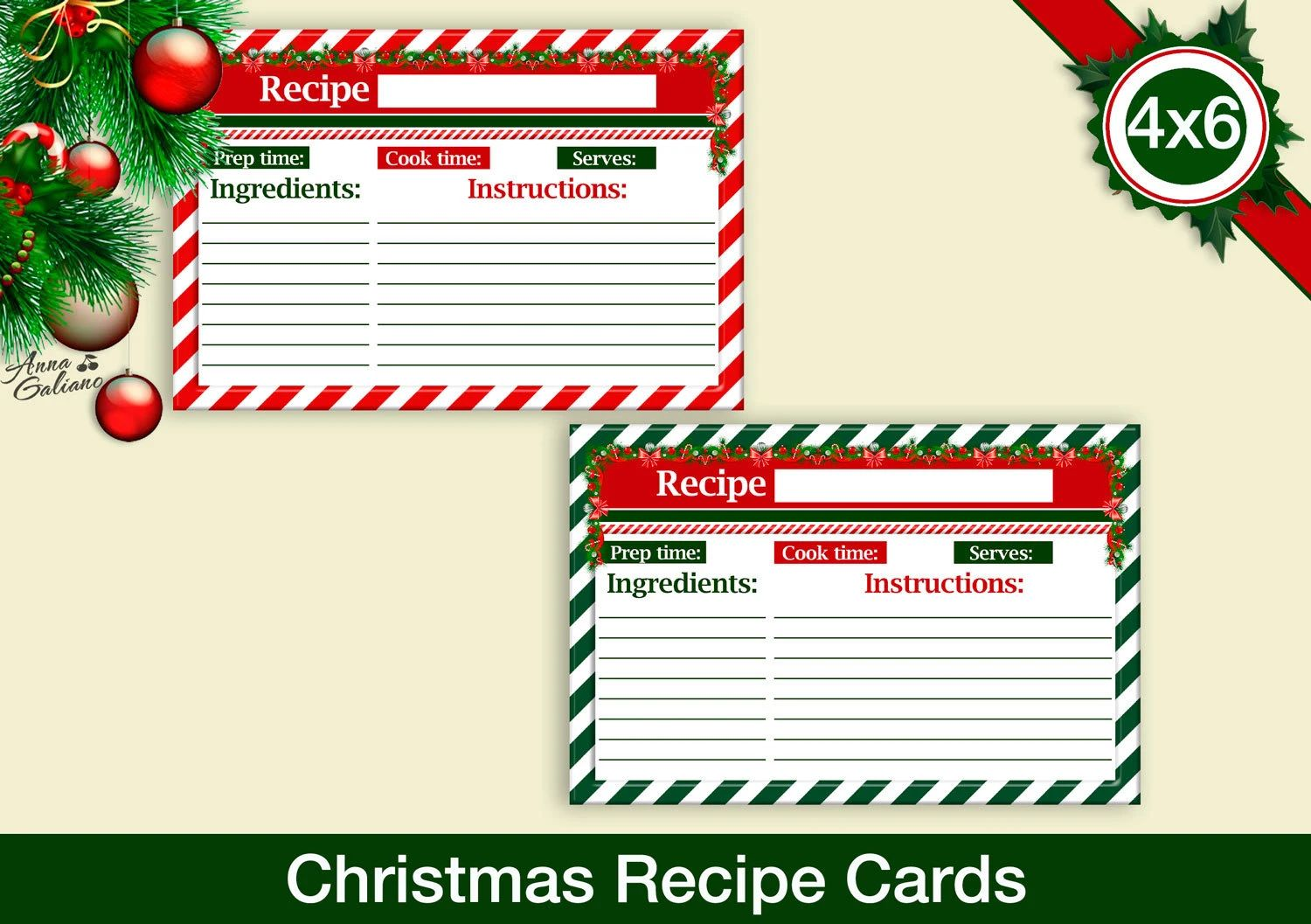 typable recipe cards