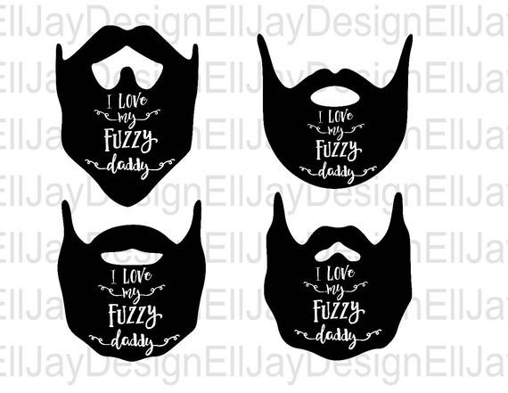 Download Beard svg I love my fuzzy daddy svg dfx studio3 cut