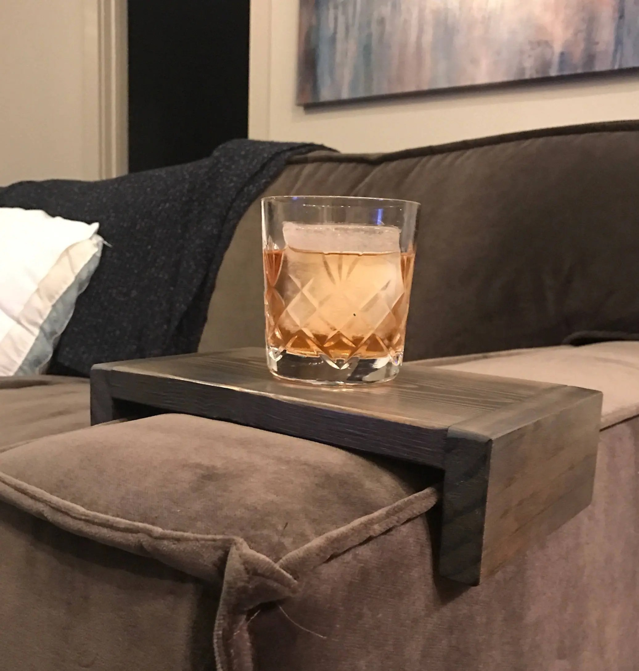 sofa armchair drink holder caddy wooden sofas uk couch cup   etsy