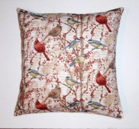 WINTER BIRDS Throw Pillow Cover Decorative by PersnicketyHome