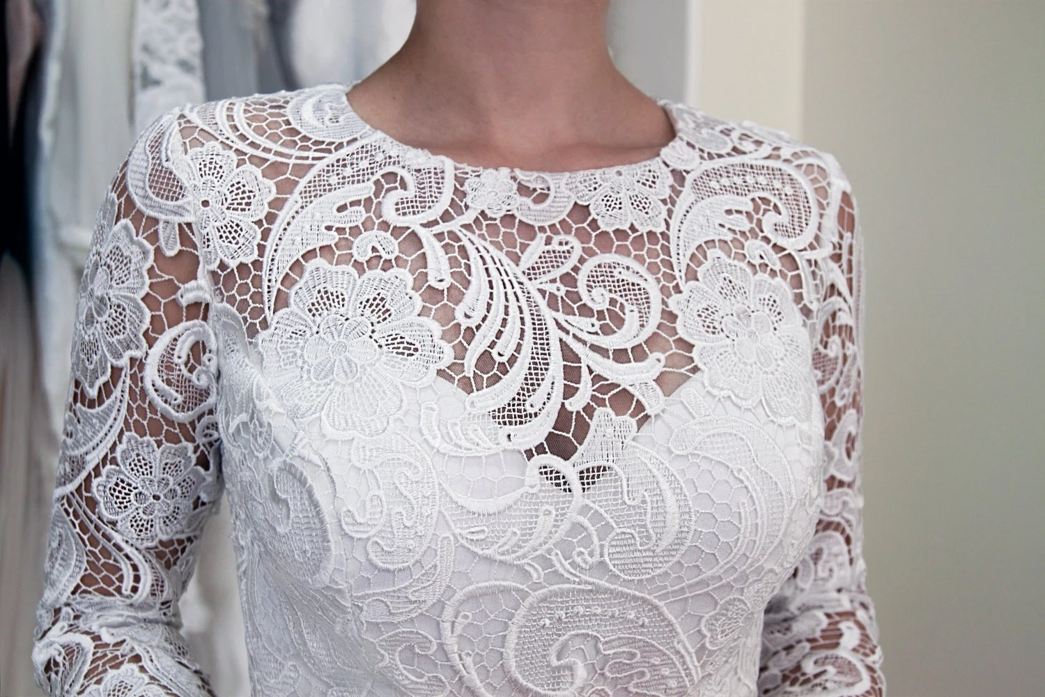 Guipure Lace Wedding Dress Civil Wedding Dress Reception