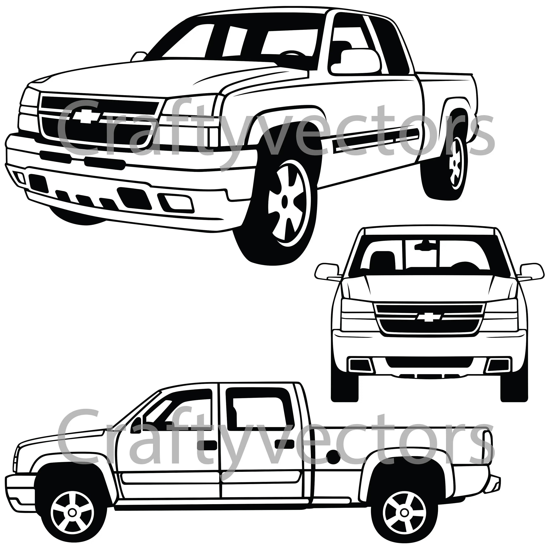 2006 Chevrolet Silverado Vector File