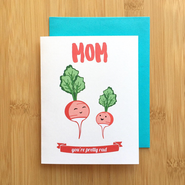 Radish Mom Card