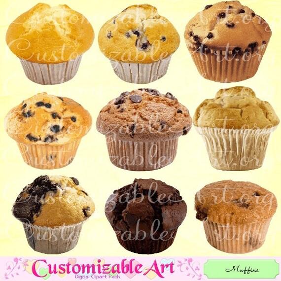 Muffin Clipart Digital Muffin Clip Art Printable Muffins