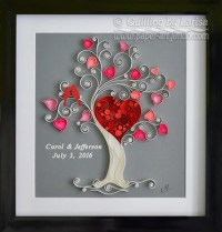 Quilling wall art Paper quilling art Love tree by ...