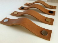 Leather Pulls / Leather Handles / Leather Cabinet Hardware ...