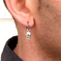 Mens Earring Skull Earring for Men Mens Jewelry Punk