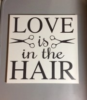 painted canvas sign hairstylist