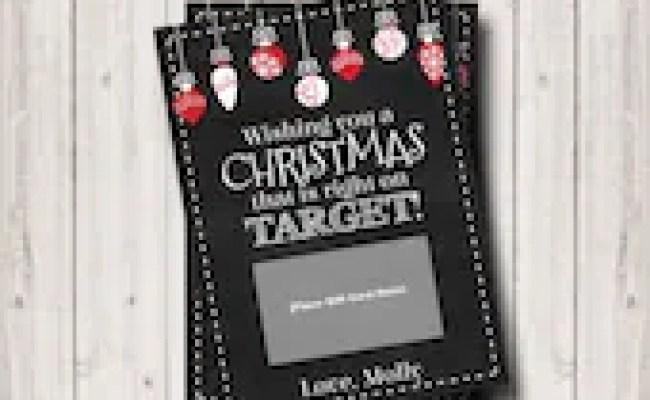 Items Similar To Target Christmas Gift Card Printable