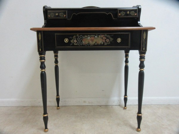 Ethan Allen Hitchcock Paint Decorated Ladies Writing Desk