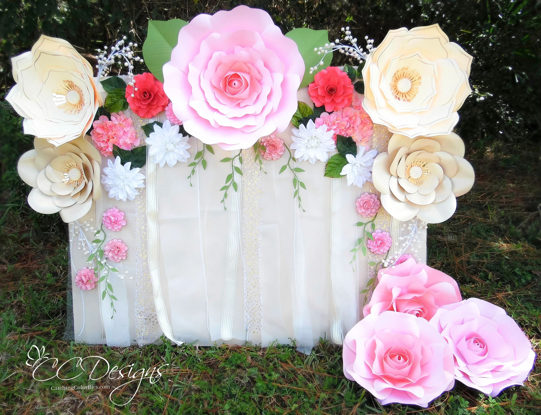 paper flower backdrop diy