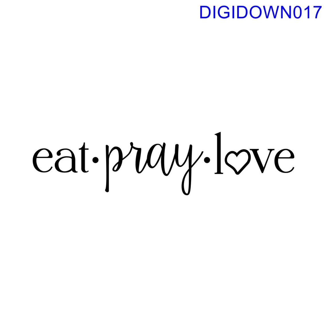 Download eat pray love SVG Cut File mtc svg pdf eps ai dxf