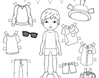 Items similar to CUSTOM paper-doll/portrait, hand drawn