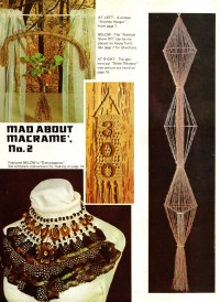 MAD ABOUT MACRAME No. 2 Curtain, Director's Chair, Stool ...