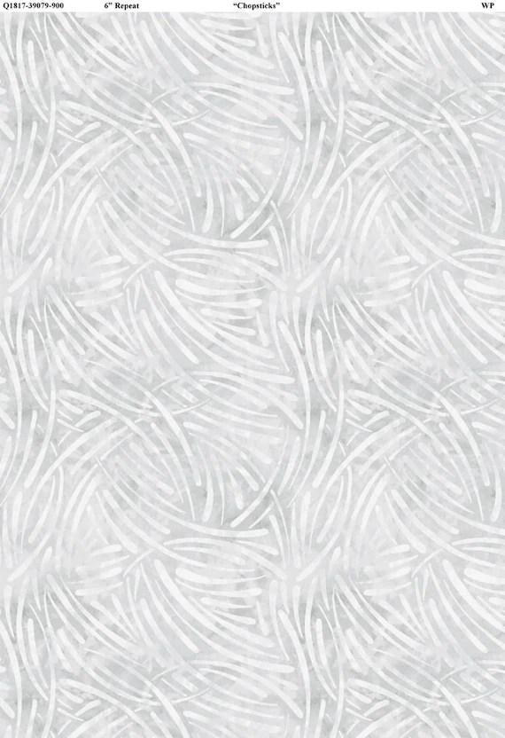 Chopsticks Fabric in Light Gray, Essentials from