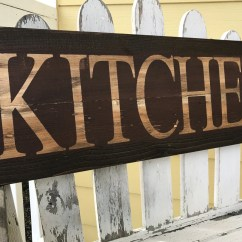 Wooden Signs For Kitchen White Cupboards Rustic Sign In Red
