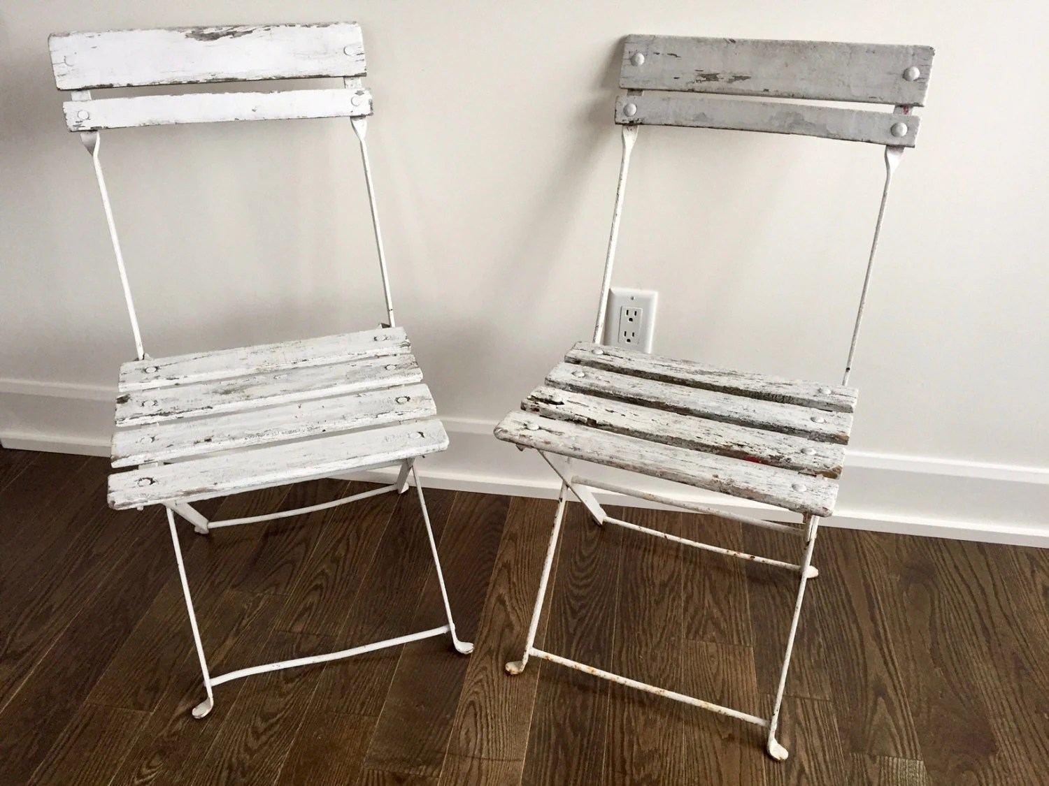 French Bistro Chair Vintage French Bistro Chair Cafe Folding Chair White Shabby