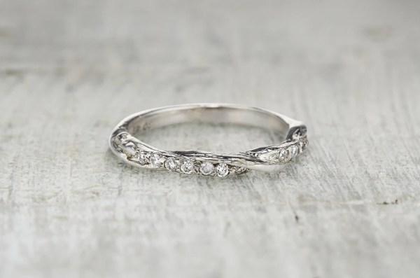 Diamond Eternity Wedding Ring Twisted Twig