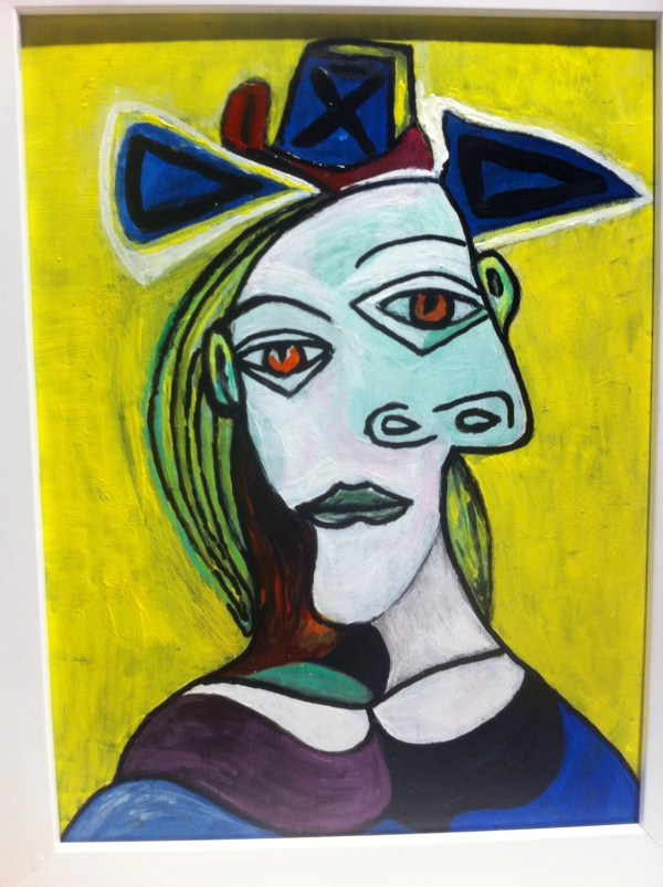 Picasso Blue Woman with Hat