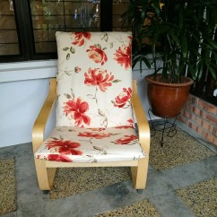 Poang Chair Covers Etsy Burlap Sashes Canada Ikea Cushion Cover Floral Print