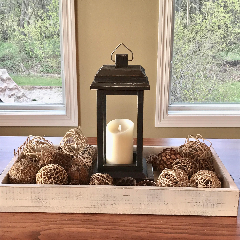 Vintage Wood Rustic Lantern Wood Candle Lantern Tealight