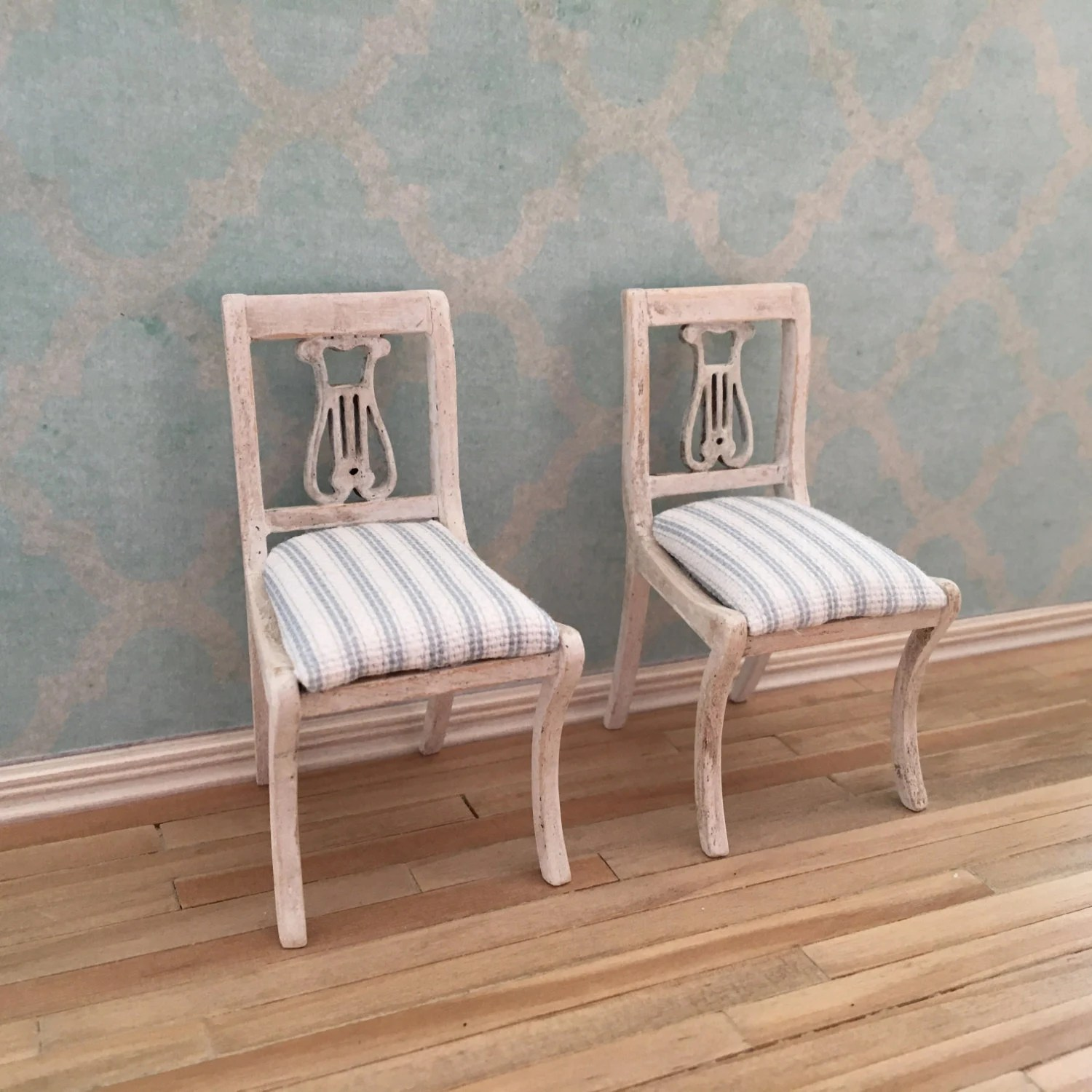 Lyre Back Chairs Dollhouse Miniature Lyre Back Chairs