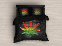 Marijuana Bedding. Marijuana Duvet Cover Weed Bedding Set