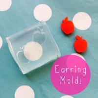 Silicone Earring Apple Stud Mold - Earrings Resin Crafter ...
