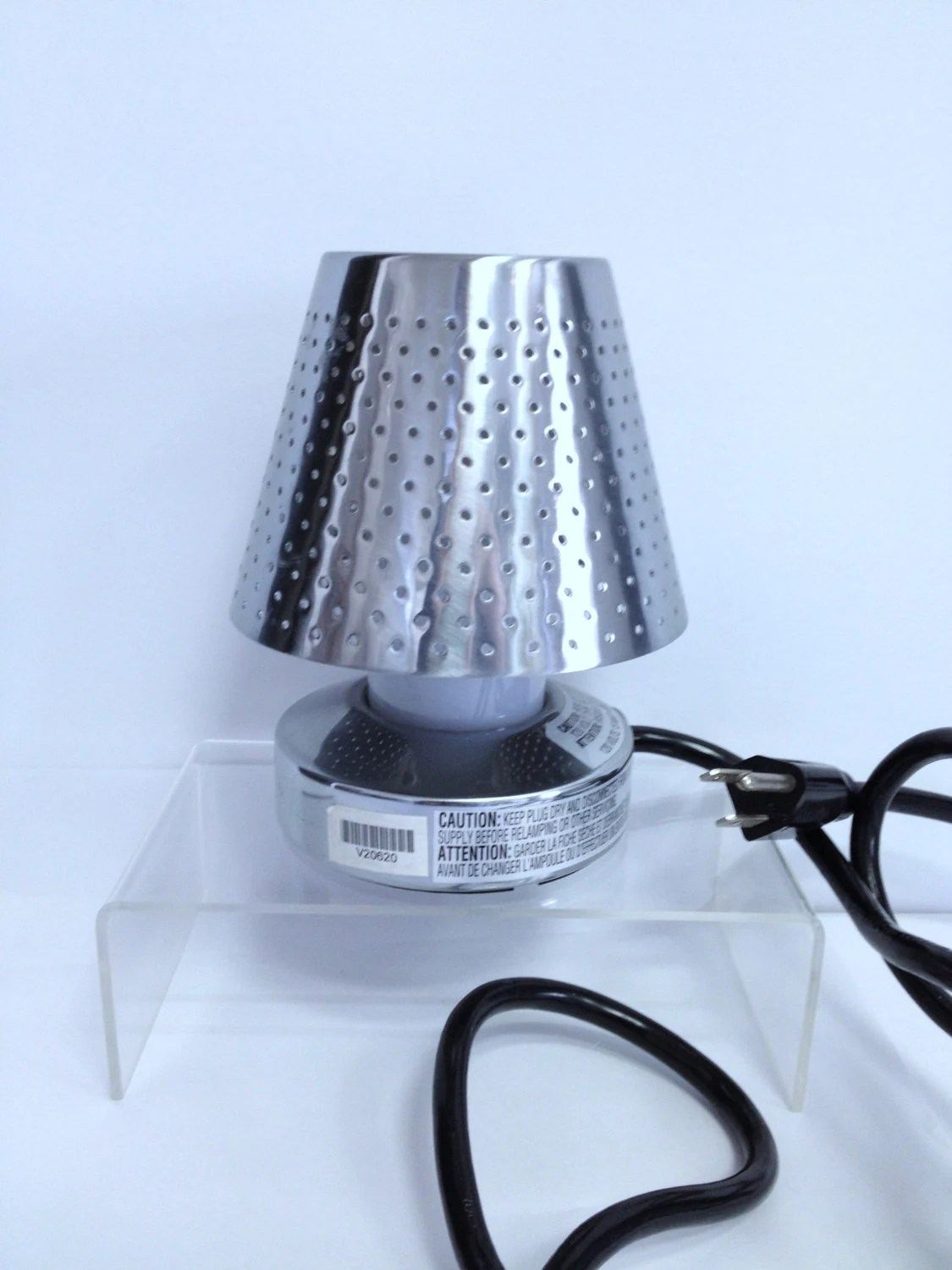 Conair Stainless Steel Lamp Vintage Tiny Lamp Small Steel Lamp