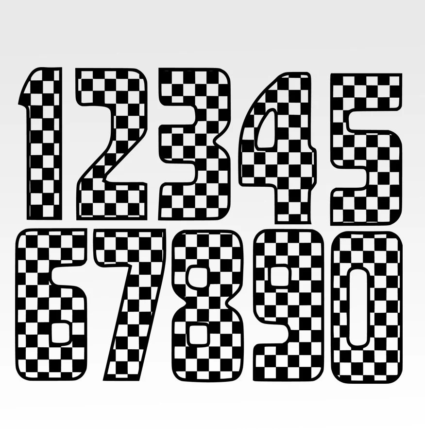 Download Checkered Numbers Numbers svgrace flagrace flag svg File
