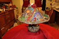 Mosaic Mushroom Lighted accent lamp home by SouthernHomeandArt