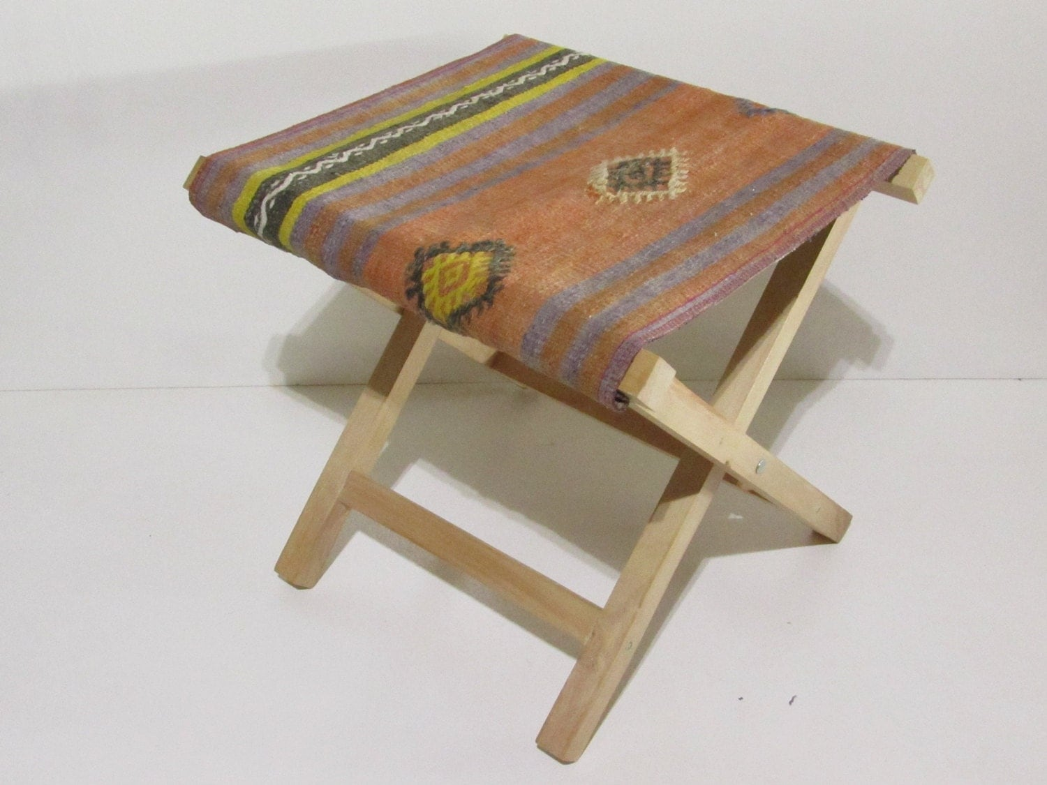 Aztec Chair Kilim Stool Rustic Decor Kilim Chair Aztec Furniture Kilim