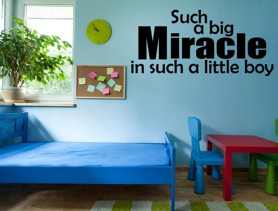 Miracle Baby Boy Wall Quote by InspirationWallSigns