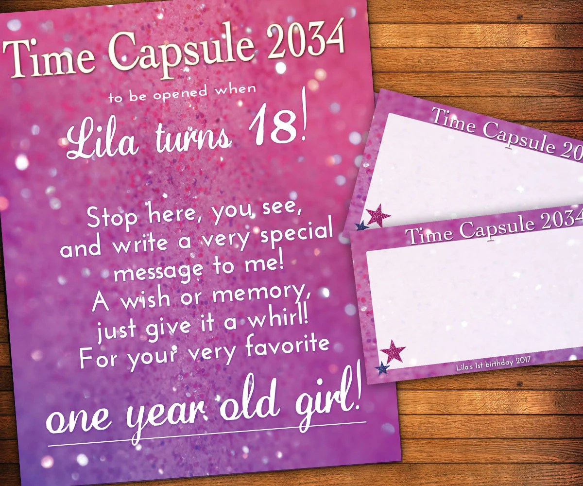 First Birthday Time Capsule 1st Birthday Time Capsule By Lilgiggs