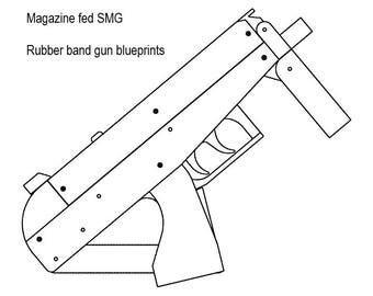 Bolt action rubber band gun plans from ParabellumArms on