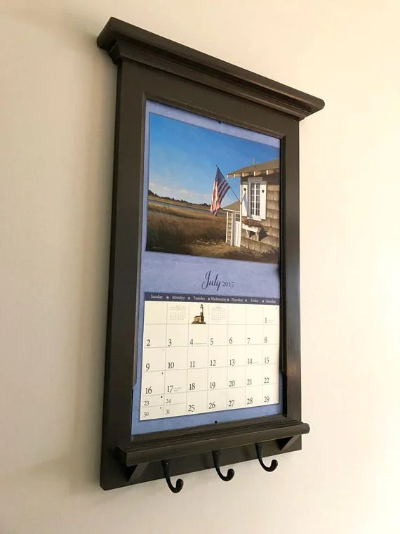 framed chalkboard for kitchen stonewall products calendar frame family organizer storage shelf and keyhook