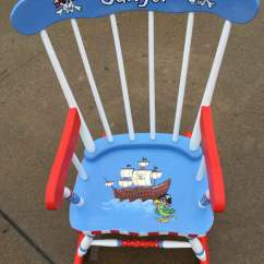 Personalized Rocking Chair For Toddlers Stretch Dining Covers Dunelm Pirate Kids Rockers Hand Painted