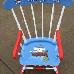 Personalized Little Kid Chair Hanging Chairs With Stand For Bedrooms Pirate Rocking Kids Rockers Hand Painted