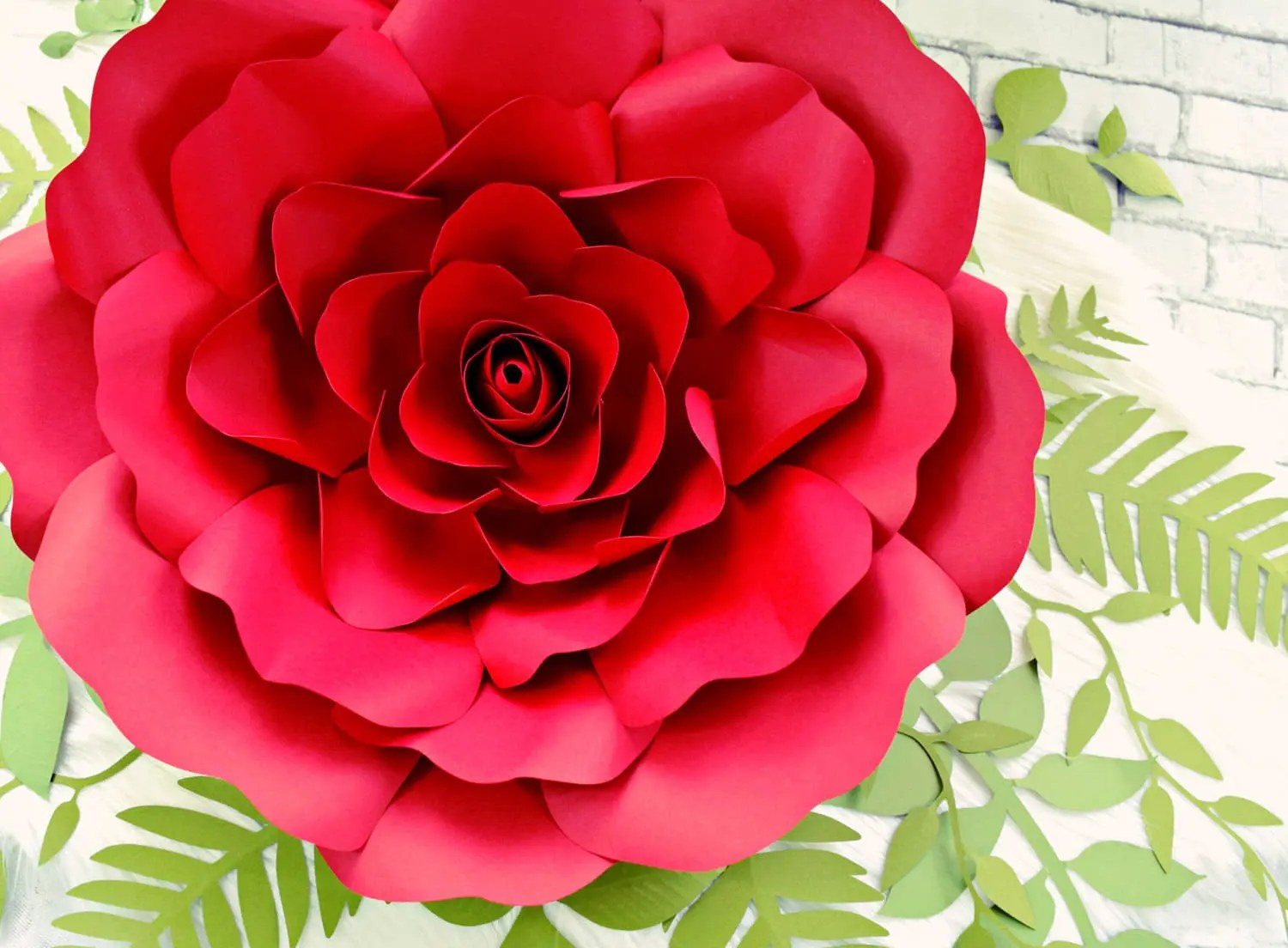 Giant Paper Rose Flowers Paper Rose Flower Wall Printable