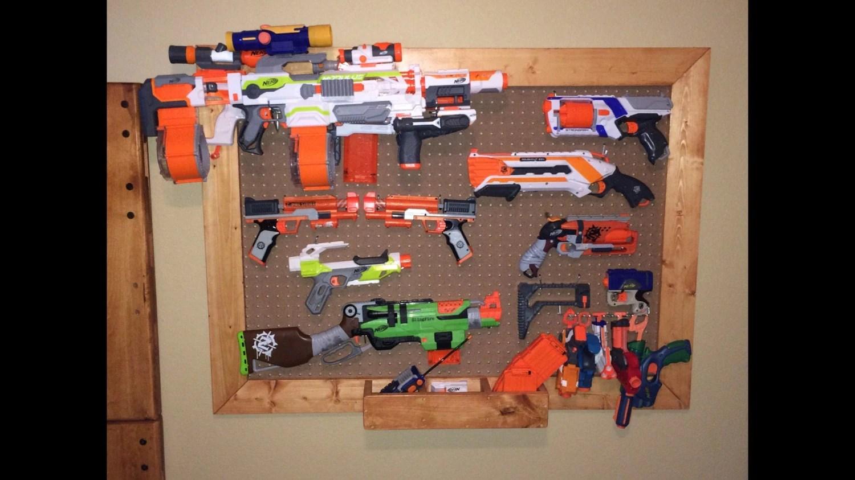 nerf gun storage rack