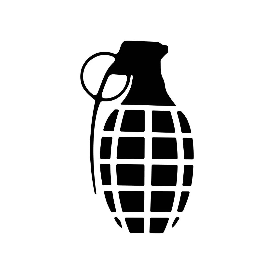 Grenade Military Graphics Svg Dxf Eps Cdr Ai Vector