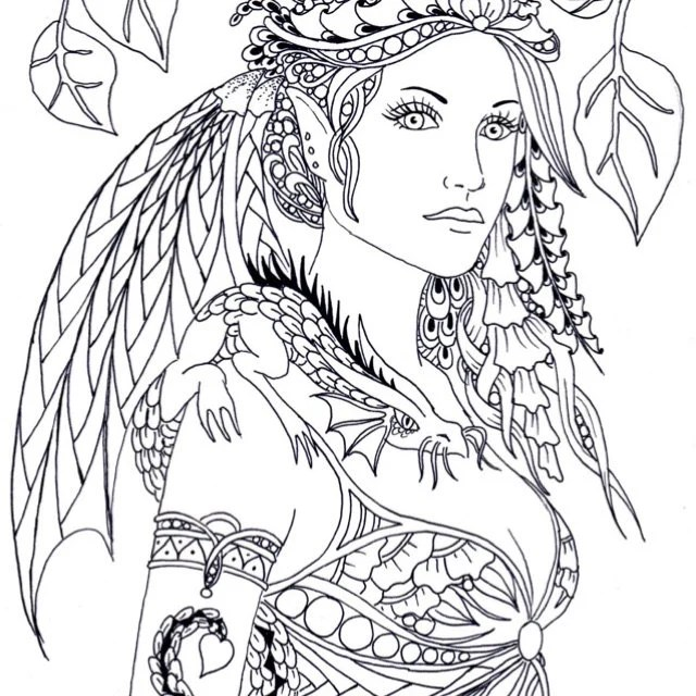Fairy Tangles™ Coloring Sheets & Digi Digital by