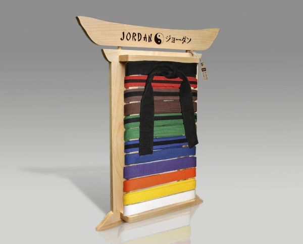 Maple Martial Arts Belt Rack Personalized Karate