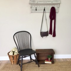 Wall Mounted Chair Rack Crate And Barrel Lounge Coat Hanger Eastlake Furniture
