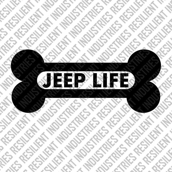Jeep Life Paws Dog Wrangler JK Decal Cherokee Decal Funny