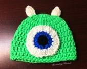 Newborn Mike Wazowski Hat...