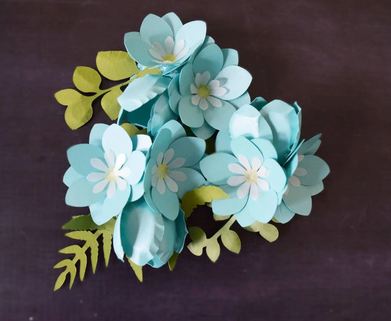 paper flower silhouette tutorial